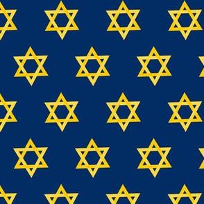 Hanukkah Green and Gold Star of David