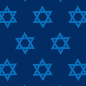 Hanukkah Blue and Gold Star of David