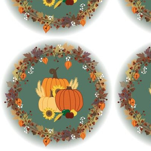 Fall wreath placement print