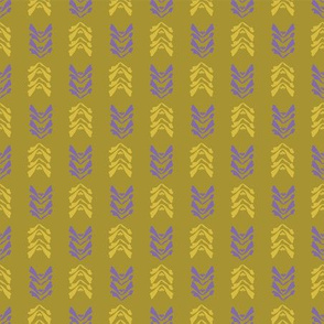 Mustard Yellow Vintage Leaves
