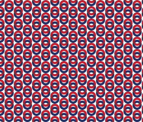 Phish Fishman Optical Donut Red Circle Pattern fabric by khaus on Spoonflower - custom fabric