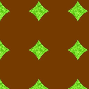 CD1 -   Polkadot Solidarity in Brown and Lime Green - Large