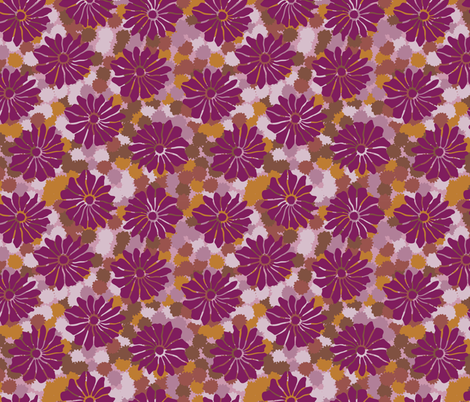 Bold Vintage Floral  fabric by limolida on Spoonflower - custom fabric