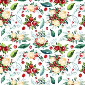 "Christmas Floral 12x10"""