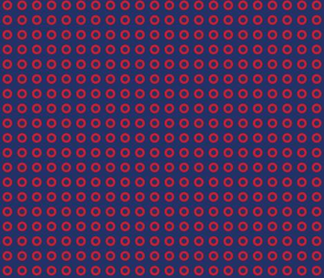Phish Fishman Donut Red Circle Coordinate RETRO Colors fabric by khaus on Spoonflower - custom fabric