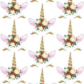 "Christmas Unicorn 6x7"""