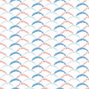 Pastel Geometric Wave Shapes