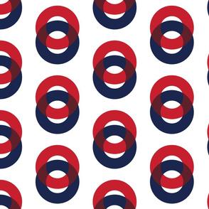 Phish Fishman Optical Donut Red Circle Pattern SPACE