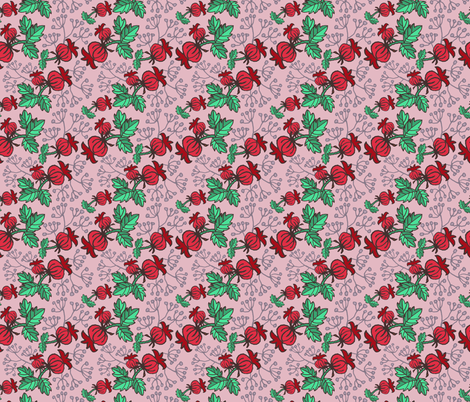 Berries & Pods - Lavender fabric by denise_ortakales on Spoonflower - custom fabric