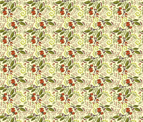 Early Autumn - Gold fabric by denise_ortakales on Spoonflower - custom fabric