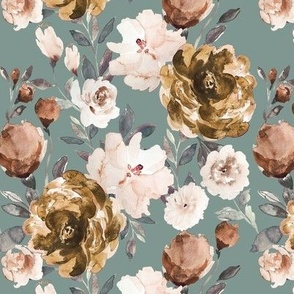 IBD Autumn cocao cream peonies sage B