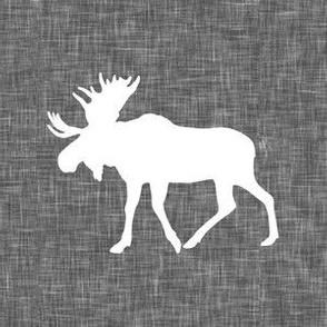 "6"" moose quilt block C18BS"