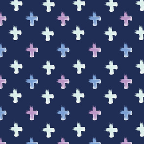 Shoreline Cross with Lilac Blue Mint