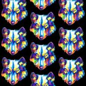 Rainbow Wolf (Black)