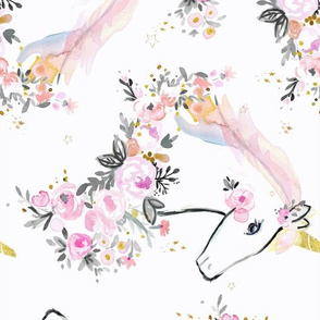 sweet unicorn floral - rotate