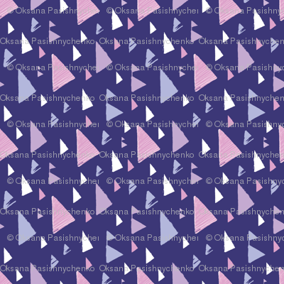 Sunset triangles - textured abstract design