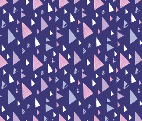 Sunset triangles - textured abstract design fabric by oksancia on Spoonflower - custom fabric