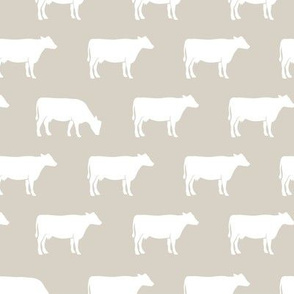 cows on beige