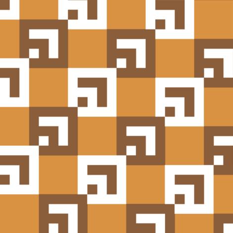 Dynasty ChocolateCaramel fabric by patternmutation on Spoonflower - custom fabric