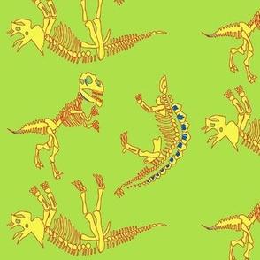 Retro Dinosaur Fossil