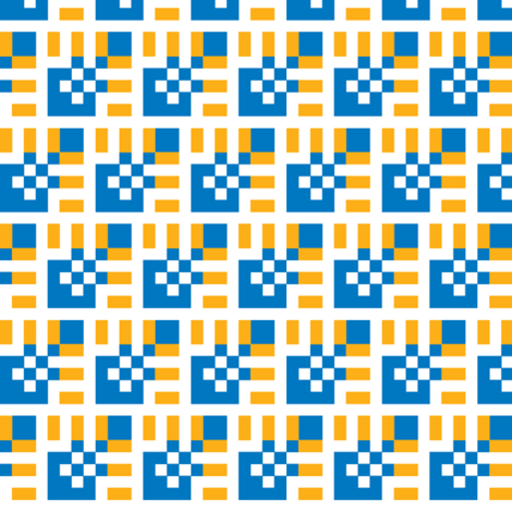 Lola BlueSunburst Small fabric by patternmutation on Spoonflower - custom fabric
