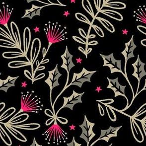 Festive Pohutukawa - Pink Gold Black
