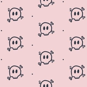pink and navy skulls