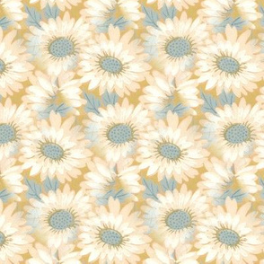Blue N Yellow Daisy Pattern