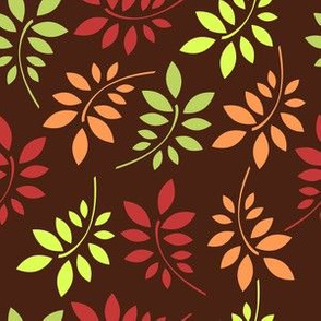 Trendy Fall Leaf Branches Pattern