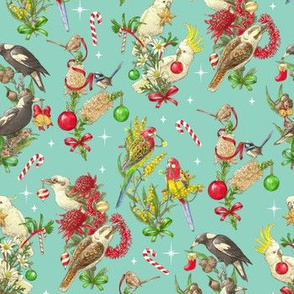 Bush Birds of Christmas - Turquoise