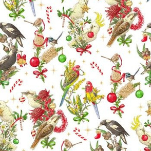 Bush Birds of Christmas - White