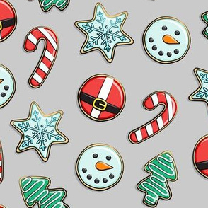 Christmas Sugar Cookies - grey - holiday