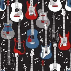 Guitars on Black