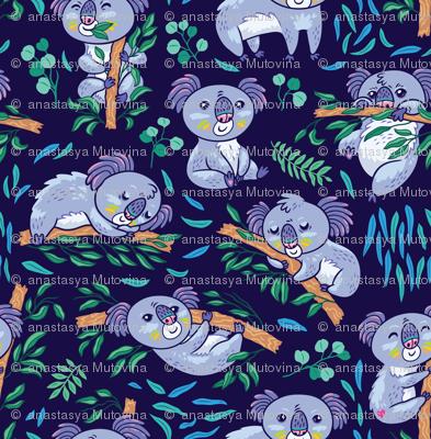 Koalas in the eucalyptus forest_2