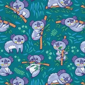Koalas in the eucalyptus forest_3