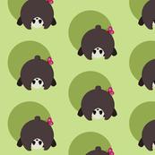 Panda print on Green