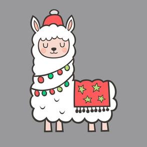 Christmas Llama Alpaca Pillow Plush Plushie Softie Cut & Sew