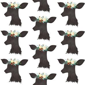 """Deer Head Christmas Floral no Antlers 6"""""""