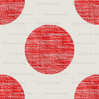Dots of Red Weave on Linen