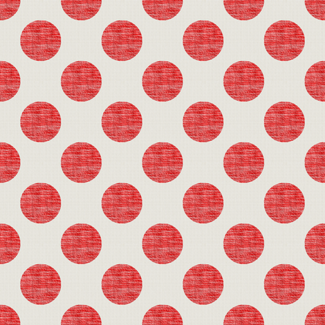 Dots of Red Weave on Linen fabric by anniedeb on Spoonflower - custom fabric