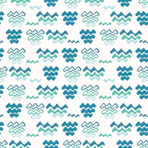 Abstract Geometric Wave Shapes