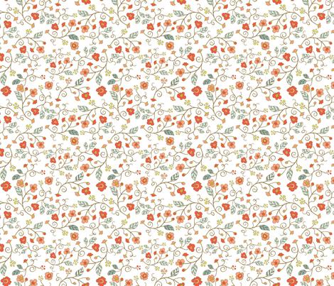 Bird Sanctuary - White fabric by denise_ortakales on Spoonflower - custom fabric
