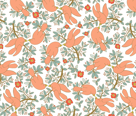 Lovey Birds fabric by denise_ortakales on Spoonflower - custom fabric