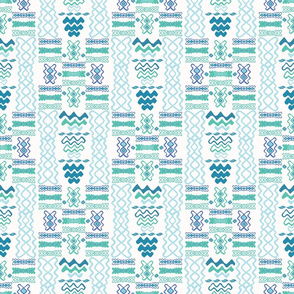 Blue Wave Pattern Line Shapes