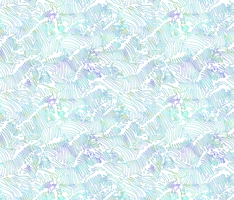 Zebra Line Drawing Teal fabric by alekszdesigns on Spoonflower - custom fabric