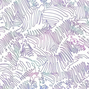 Zebra Line Drawing Purple