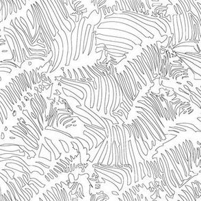 Zebra Line Drawing Black