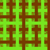 CD1 - Brown, Lime and Olive Green Abstract Window Gallery