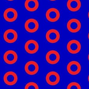 Phish Fishman Donut Red Circles BRIGHT Colors