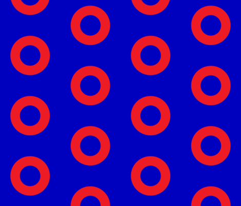Phish Fishman Donut Red Circles BRIGHT Colors fabric by khaus on Spoonflower - custom fabric